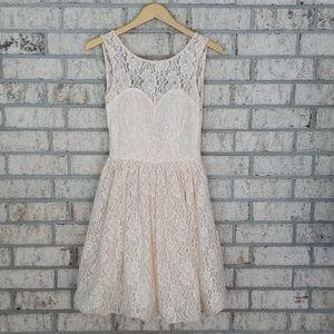 Chi Chi Sweetheart Illusion Neckline Lace Dress